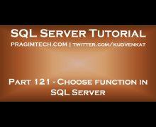 Choose function in SQL Server