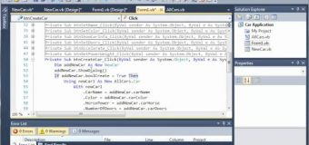 Visual Basic Tutorial – 119 – Car Part 14   Cancelling AddCar
