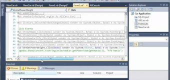 Visual Basic Tutorial – 120 – Car Part 15   Changing the selectedCar Attributes