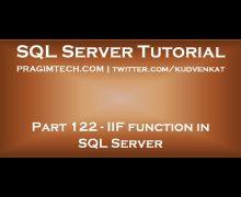 IIF function in SQL Server