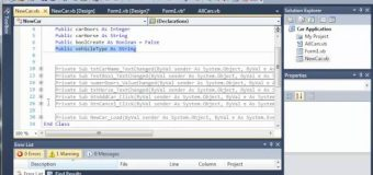 Visual Basic Tutorial – 122 – Car Part 17   Creating And Accessing Different Car Types