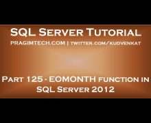 EOMONTH function in SQL Server 2012