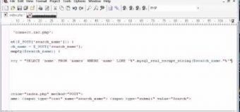 Beginner PHP Tutorial – 132 – LIKE With a Search Engine Example Part 3