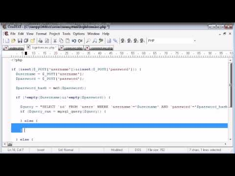 Beginner PHP Tutorial – 138 – Logging the User In Part 3