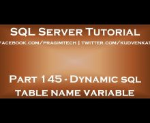 Dynamic sql table name variable