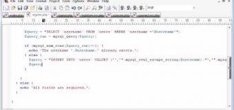 Beginner PHP Tutorial – 147 – Registration Form Part 4