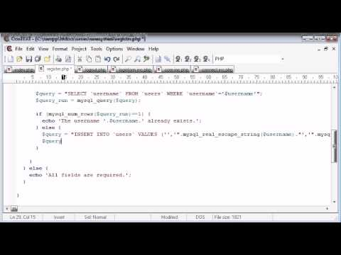 Beginner PHP Tutorial – 147 – Registration Form Part 4