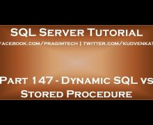 Dynamic SQL vs Stored Procedure