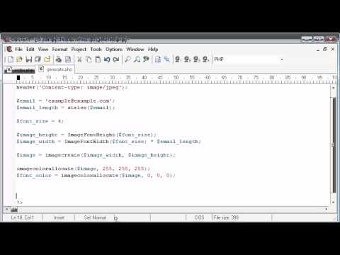 Beginner PHP Tutorial – 158 – Protecting Email with String to Image Part 2