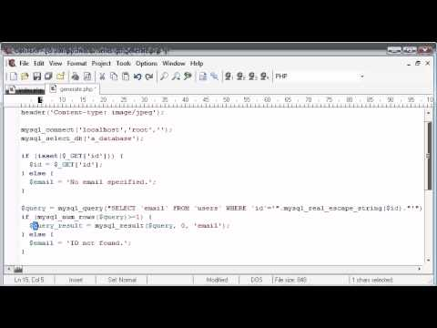 Beginner PHP Tutorial – 160 – Protecting Email with String to Image Part 4