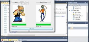 Visual Basic Tutorial – 162 – Game Part 18   Hiding And Showing The Log