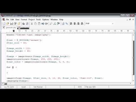 Beginner PHP Tutorial – 166 – Creating Captcha Image Security Part 3