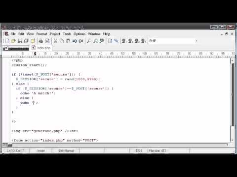 Beginner PHP Tutorial – 167 – Creating Captcha Image Security Part 4