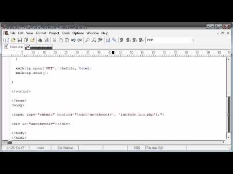 Beginner PHP Tutorial – 174 – Loading in file Contents to a DIV Part 3
