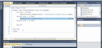 Visual Basic Tutorial – 175 – Paint Part 8   Changing The Brush Size