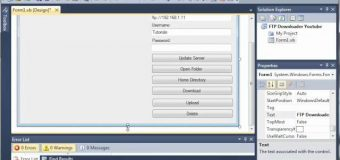 Visual Basic Tutorial – 178 – FTP Downloader Part 1   Creating The GUI